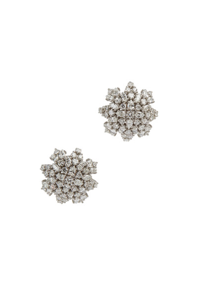 Paul Morelli - White Gold Mixed Diamond Cluster Sphere Earrings