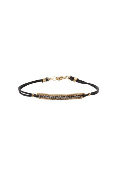 Dana Kellin - Yellow Gold Black Diamond Rope Bracelet