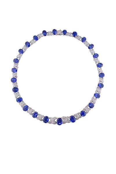 Oscar Heyman - Sapphire Diamond Necklace