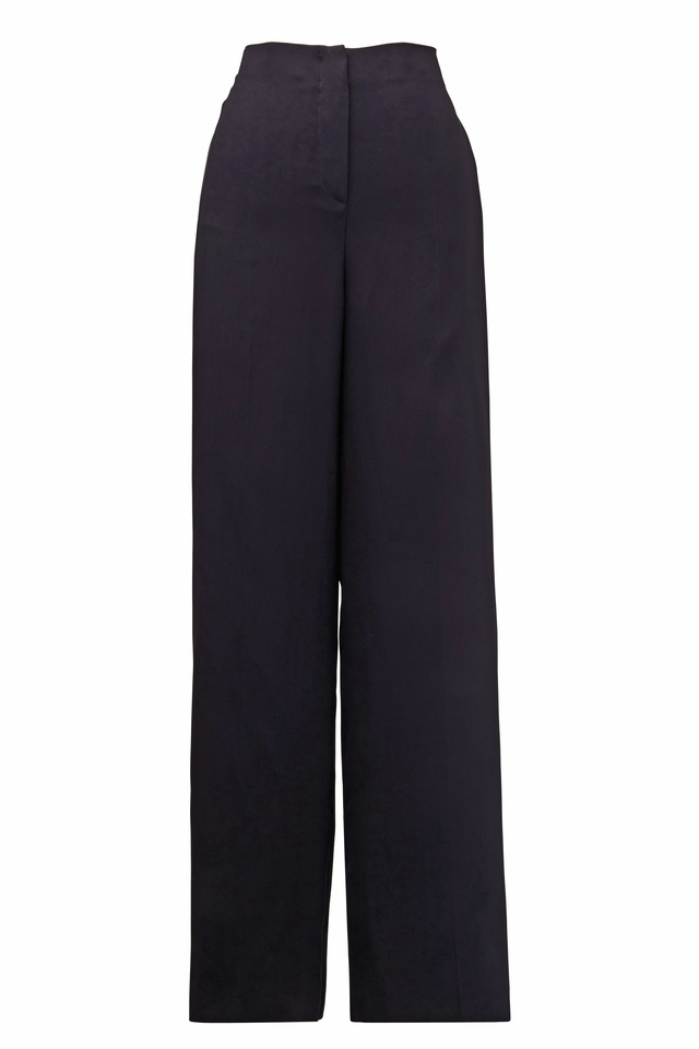 Black Polyester Pants