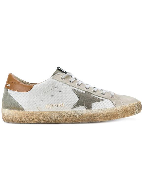 Golden Goose Men's Superstar White Leather Low Top Sneaker