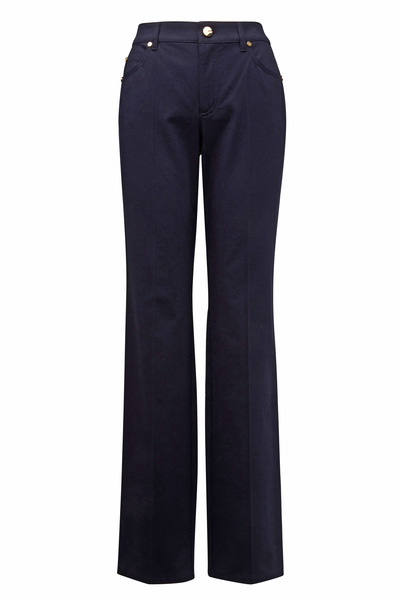 Escada - Dark Navy Blue Gabardine Jeans