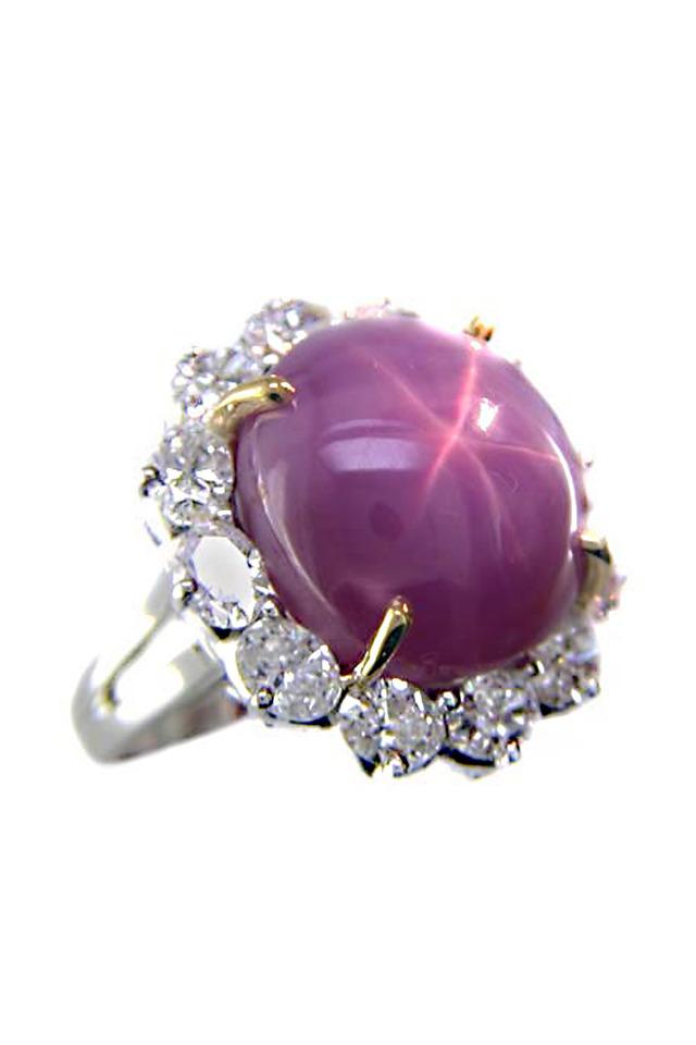 Star Ruby Diamond Ring