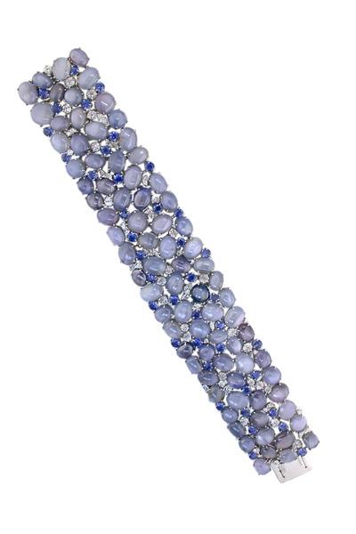 Oscar Heyman - Wide Platinum Star Sapphire Bracelet