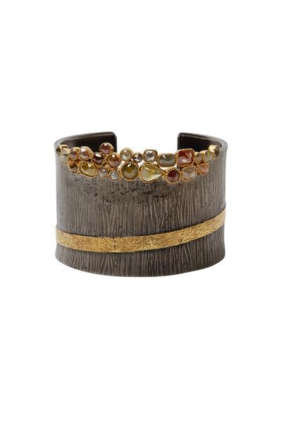 Loren Jewels - 14K Yellow Gold Diamond Cuff Bracelet