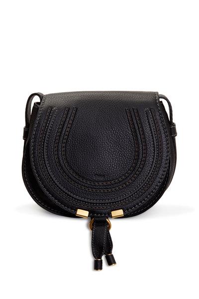 Chloé - Marcie Black Leather Small Crossbody Bag