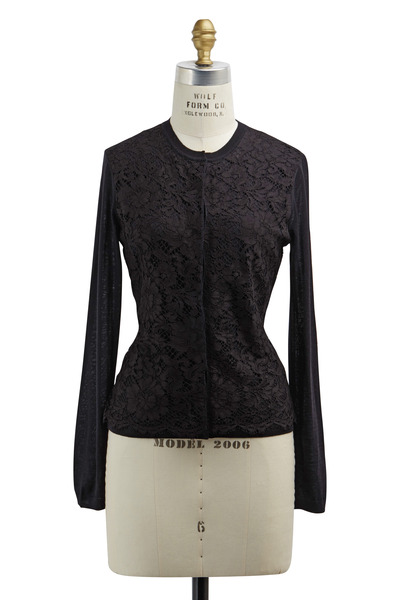 Valentino - Black Lace Cardigan