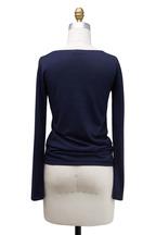 Brunello Cucinelli - Dark Blue Cashmere & Silk Sweater