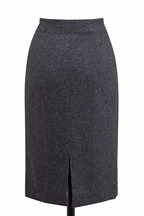 Brunello Cucinelli - Charcoal Gray Wool Tweed Pencil Skirt
