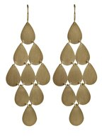 Irene Neuwirth - Yellow Gold Teardrop Chandelier Earrings