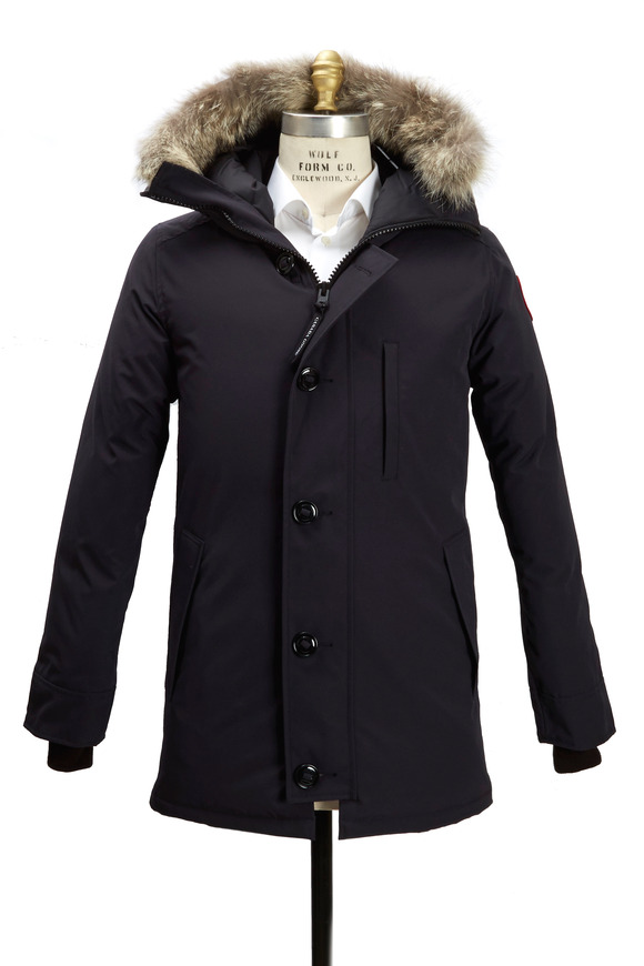 Canada Goose Chateau Navy Blue Hooded Parka