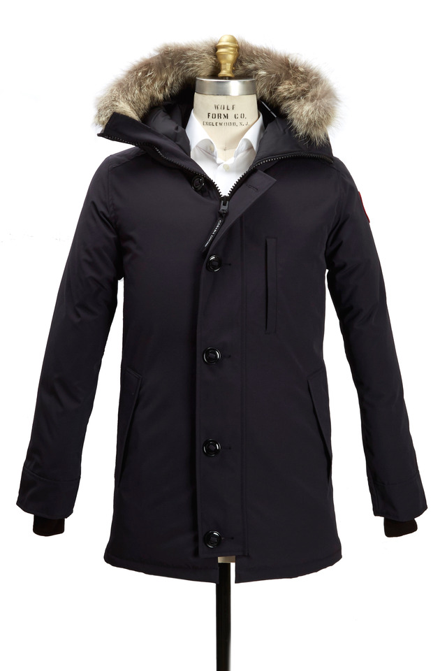 Chateau Navy Blue Hooded Parka