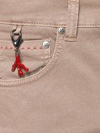 Isaia - Khaki Five-Pocket Pant
