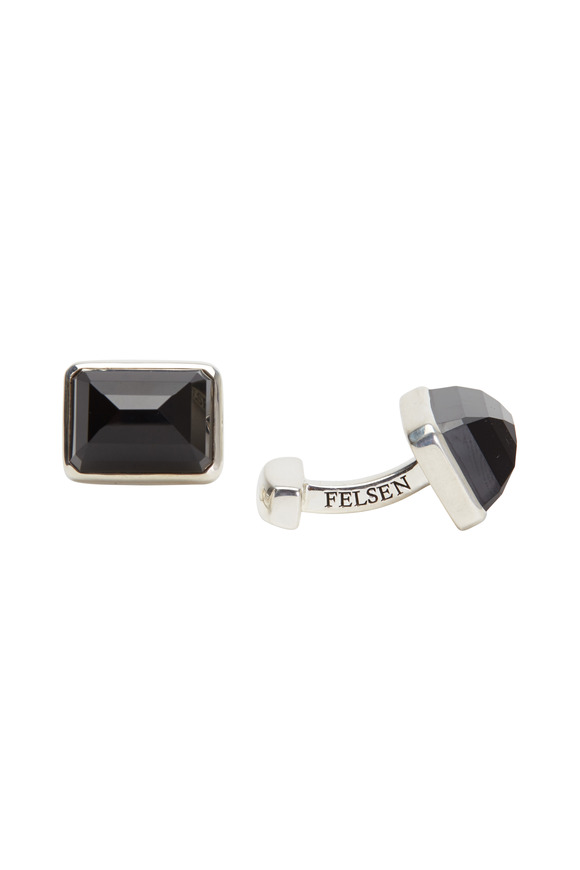 Suzanne Felsen Sterling Silver Onyx Cuff Links