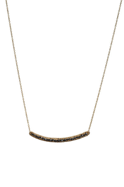 Dana Kellin - Yellow Gold Black Diamond Necklace