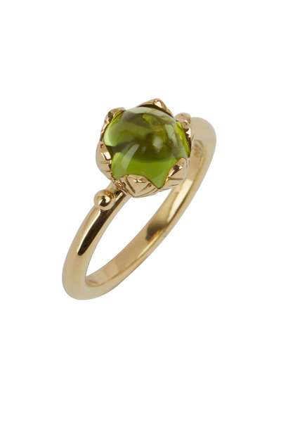 Temple St. Clair - Yellow Gold Peridot Arcadia Stack Ring