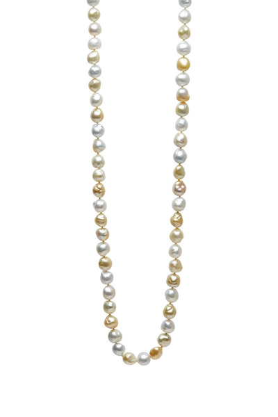 Frank Ancona - Golden & White Pearl Rope Necklace
