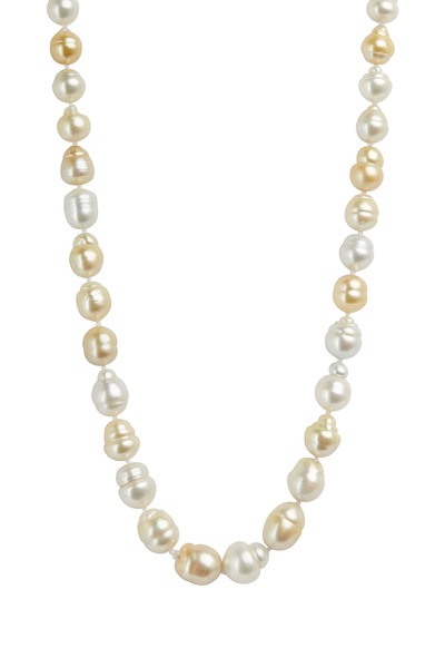 Kathleen Dughi - Yellow Gold Baroque Pearl Strand Necklace