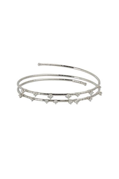 Mattia Cielo - White Diamond Coil Bracelet