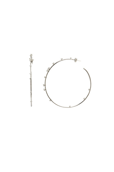 Mattia Cielo - White Diamond Coil Hoops