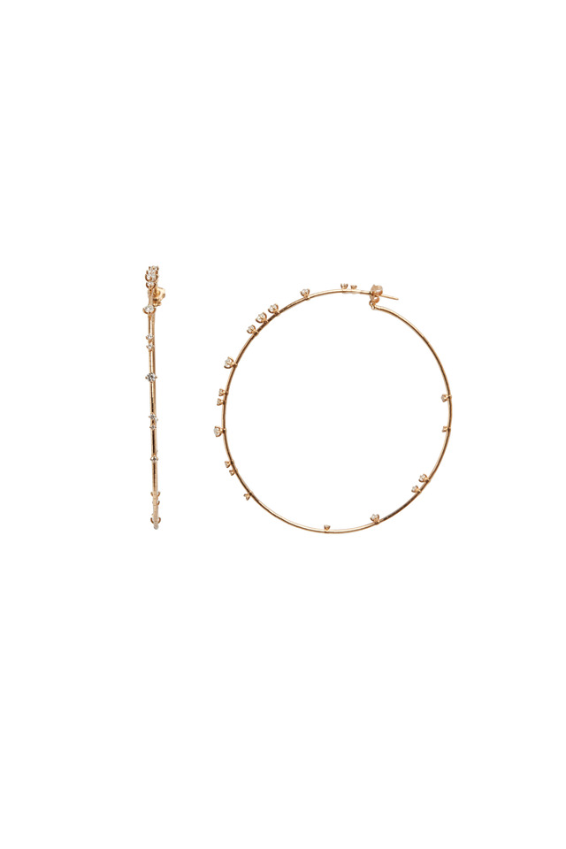 Pink Gold Coil Hoop Earrings
