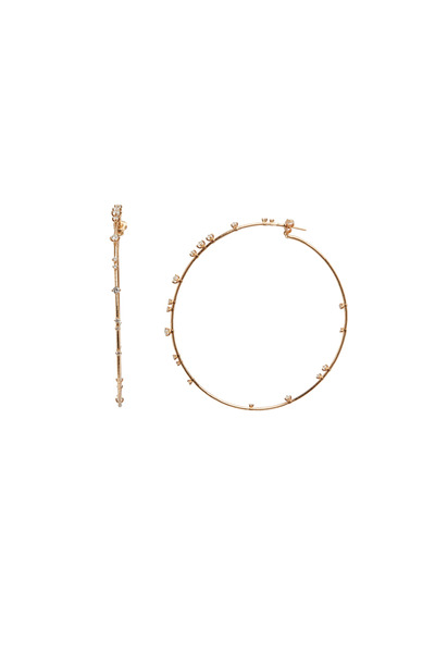 Mattia Cielo - Pink Gold Coil Hoop Earrings