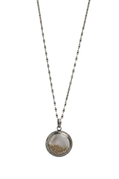 Loriann - Gold Rhodium Black & White Shake Necklace