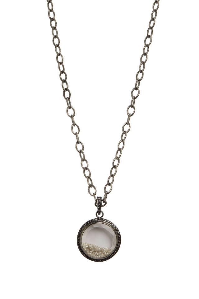 Shaker White & Black Sapphire Diamond Necklace