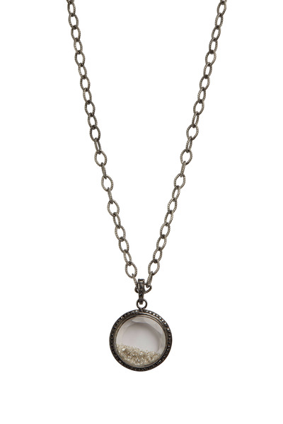 Loriann - Shaker White & Black Sapphire Diamond Necklace