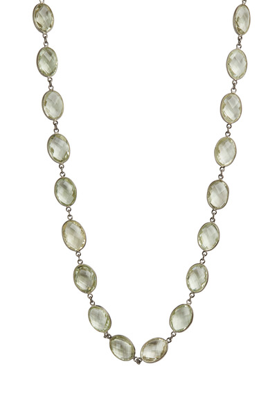 Loriann - Green Amethyst Necklace