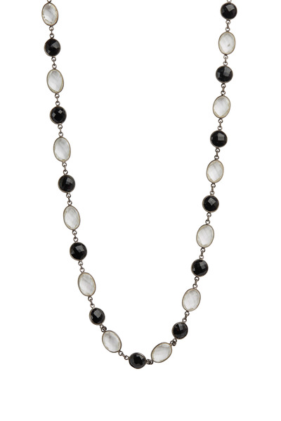 Loriann - Black Spinel & Clear Quartz Necklace