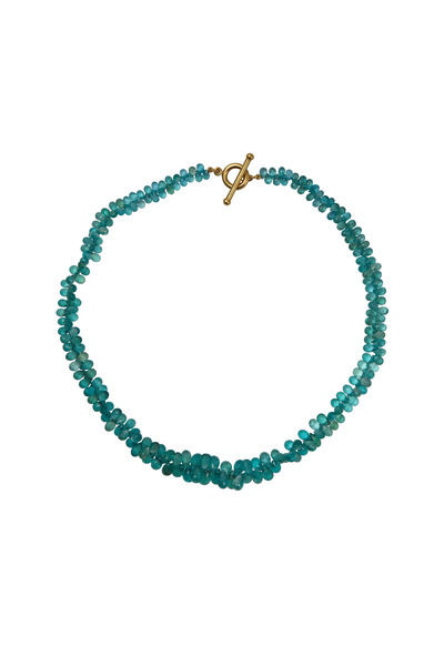 Caroline Ellen - Yellow Gold Apatite Necklace