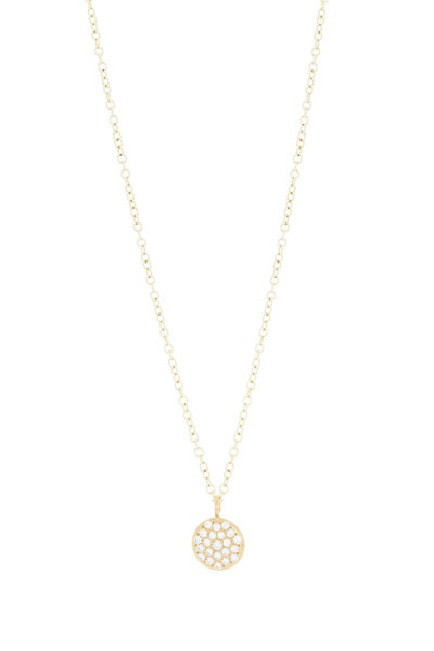 Caroline Ellen - 20K Yellow Gold Pavé Diamond Necklace