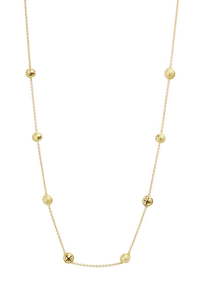 Paul Morelli - Yellow Gold Inline Bell Chain Necklace