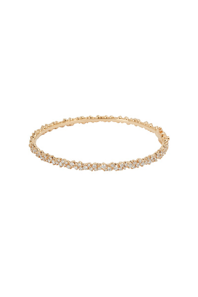 Paul Morelli - 18K Pink Gold Confetti Diamond Bangle