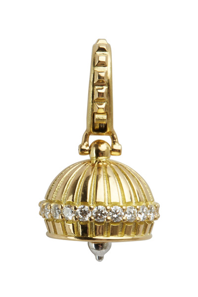 Paul Morelli - 18K Yellow Gold & Diamond Medallion Bell Pendant