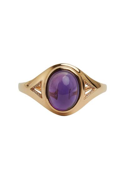 Eclat - Pink Gold Cabochon Amethyst & Diamond Bracelet