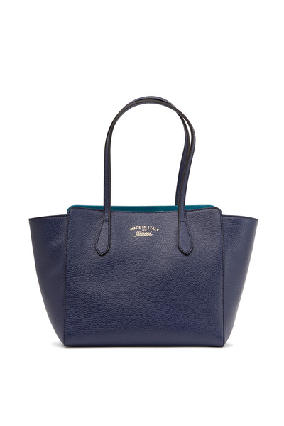 Gucci - Swing Navy Blue Leather Small Tote