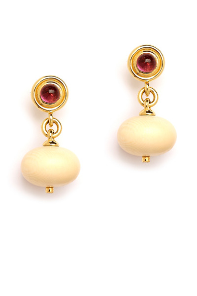 Syna - Mamouth Ivory Earrings