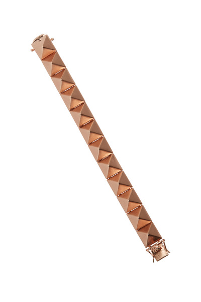 Eddie Borgo - Rose Gold Large Pyramid Bracelet