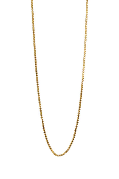 Eddie Borgo - Yellow Gold Plated Pyramid Link Necklace