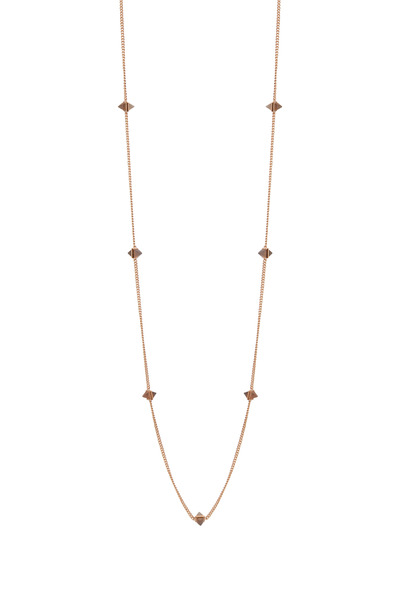 Eddie Borgo - Rose Gold Agate Gemstone Pyramid Necklace