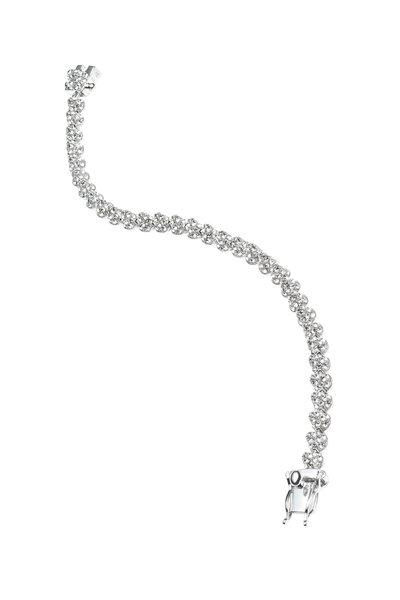 Eddie Borgo - Brass & Silver Plating Pavé-Set Crystal Bracelet