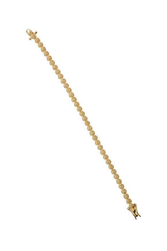 Eddie Borgo Yellow Gold Plated Mini Crystal Cone Bracelet