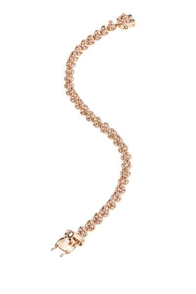 Eddie Borgo - Rose Gold Pavé-Set Mini Cone Bracelet