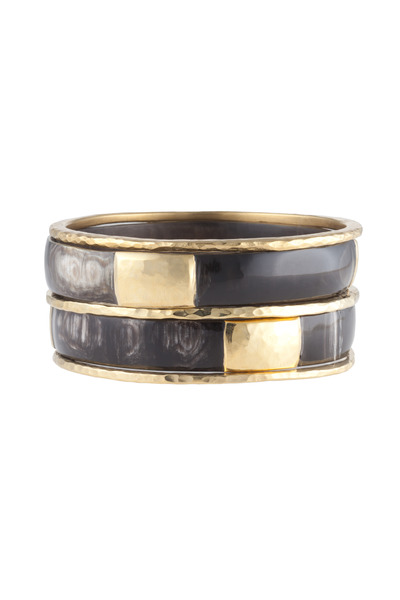 Ashley Pittman - Dark Horn Kama Bangles, Set of Five