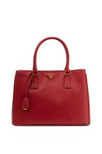 Prada - Red Saffiano Leather Small Tote