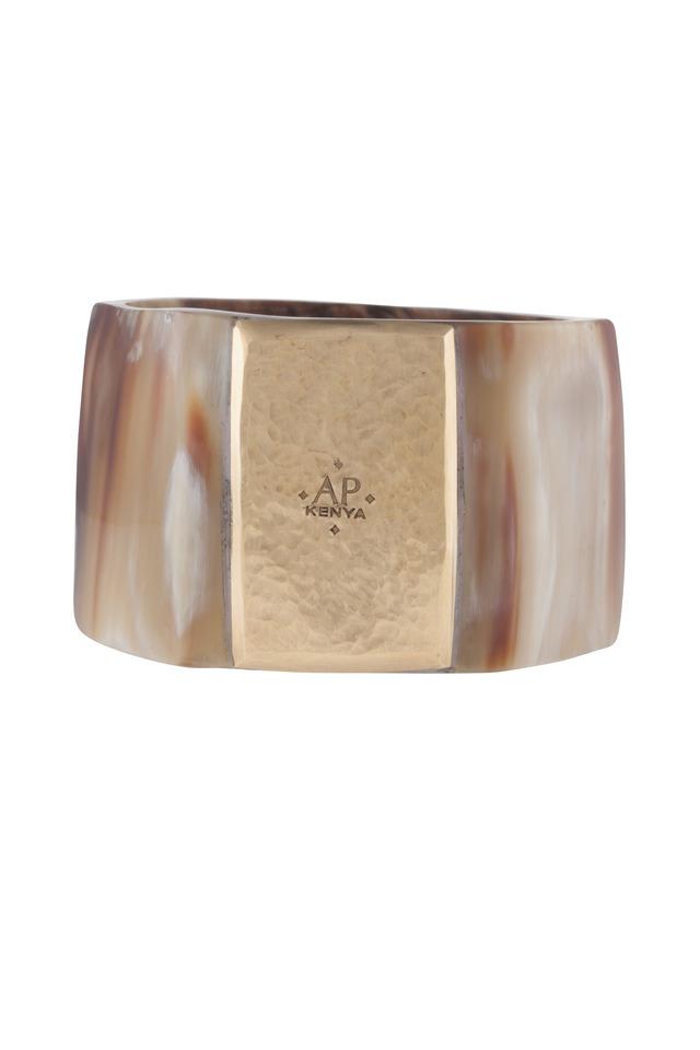 Shani Nene Light Horn Bronze Plate Bangle
