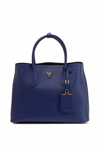 Prada - Navy Blue Saffiano Small Tote