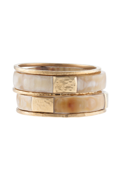 Ashley Pittman - Light Horn Kama Bangles, Set Of Five
